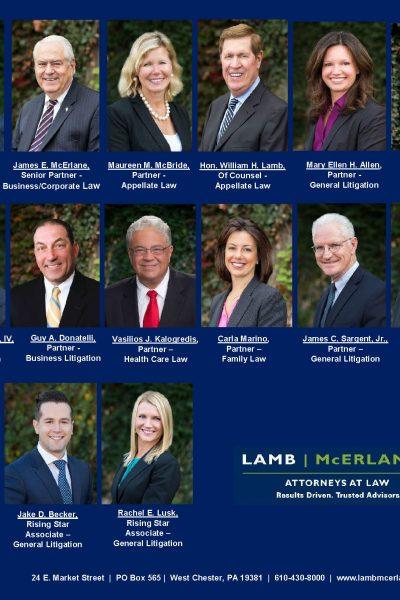 Fifteen Lamb McErlane PC Attorneys Have Been Named 2019